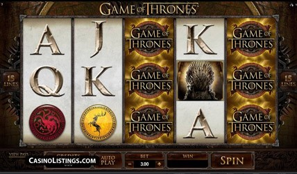 Game of Thrones Slot screenshot 2